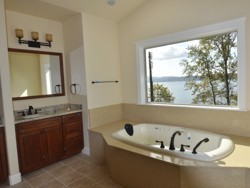 Custom Home Remodeling bath with a view