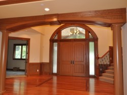 Custom Home Remodeling double door arched entry