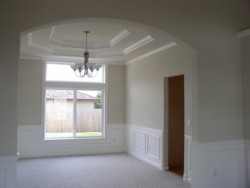 Custom Home Remodeling vaulted dining room ceiling