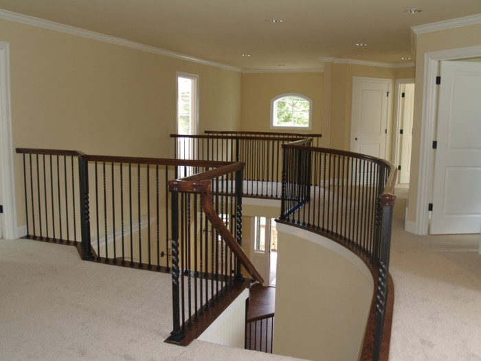 Custom Home Remodeling Vaulted Dining Room Ceiling Custom Home Remodeling  Upstairs Railing ...