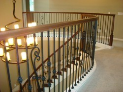 Custom Home Remodeling upstairs railing details