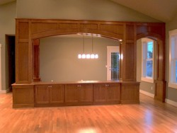 Custom Home Remodeling dining room arches