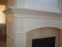 Custom Home Remodeling fireplace with custom millwork