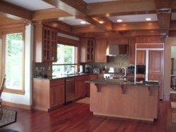 Custom Home Remodeling kitchen and dining area